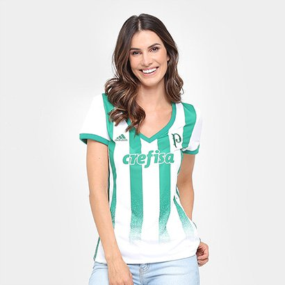 Camisa Palmeiras II 17/18 s/nº Torcedor Adidas Feminina