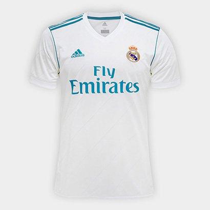 Camisa Real Madrid Home 17 18 - Torcedor Adidas Masculina a3cf7b464976c