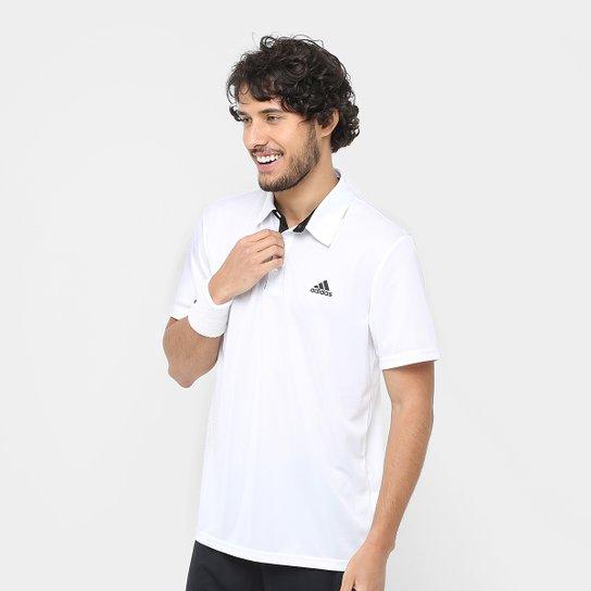 fec22262933 Camisa Polo Adidas Approach Proteção UV Masculina - Branco - Compre ...