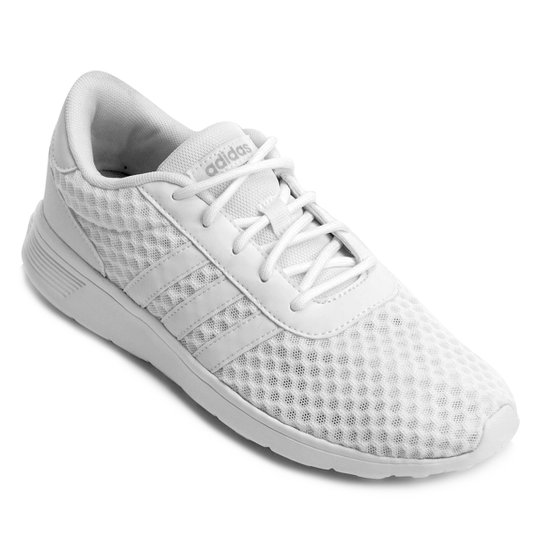 Tênis Adidas Lite Racer W Feminino - Branco - Compre Agora  eedb8b7f33f02