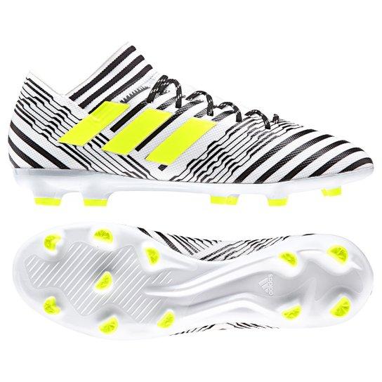 44067a627f Chuteira Campo Adidas Nemeziz 17.3 FG - Branco - Compre Agora