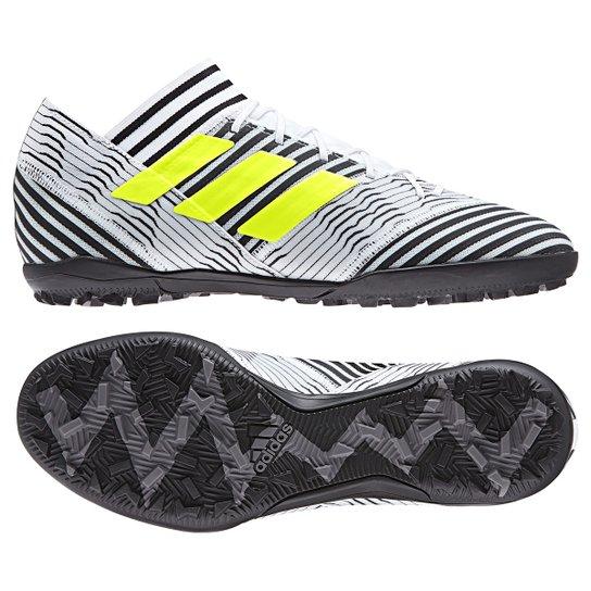 Chuteira Society Adidas Nemeziz 17.3 TF - Branco - Compre Agora ... b5bab5f328c8c