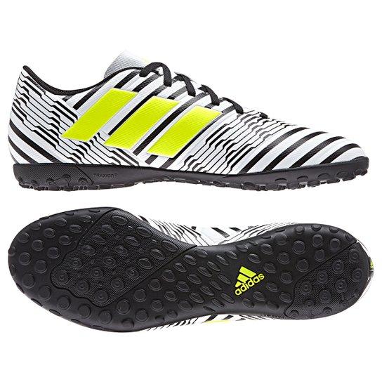 dfdf7c85aa Chuteira Society Adidas Nemeziz 17.4 TF Masculina - Branco - Compre ...