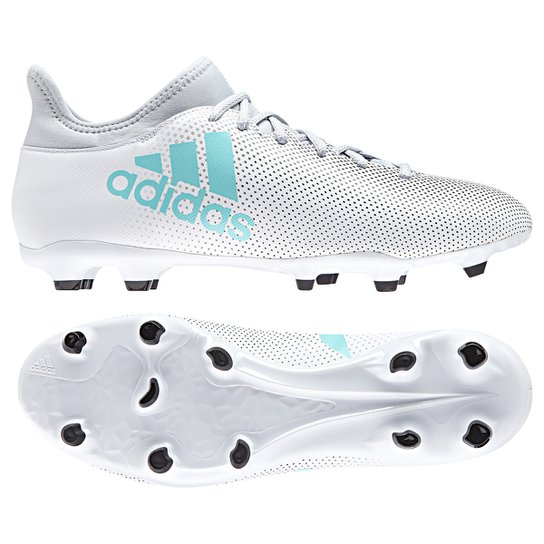 ... on feet shots of 9547a 996d0 Chuteira Campo Adidas X 17.3 FG Masculina  - Branco ... fb8606702303f
