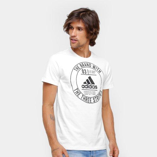 Camiseta Adidas Badge Masculina - Branco - Compre Agora  34f37e470c343