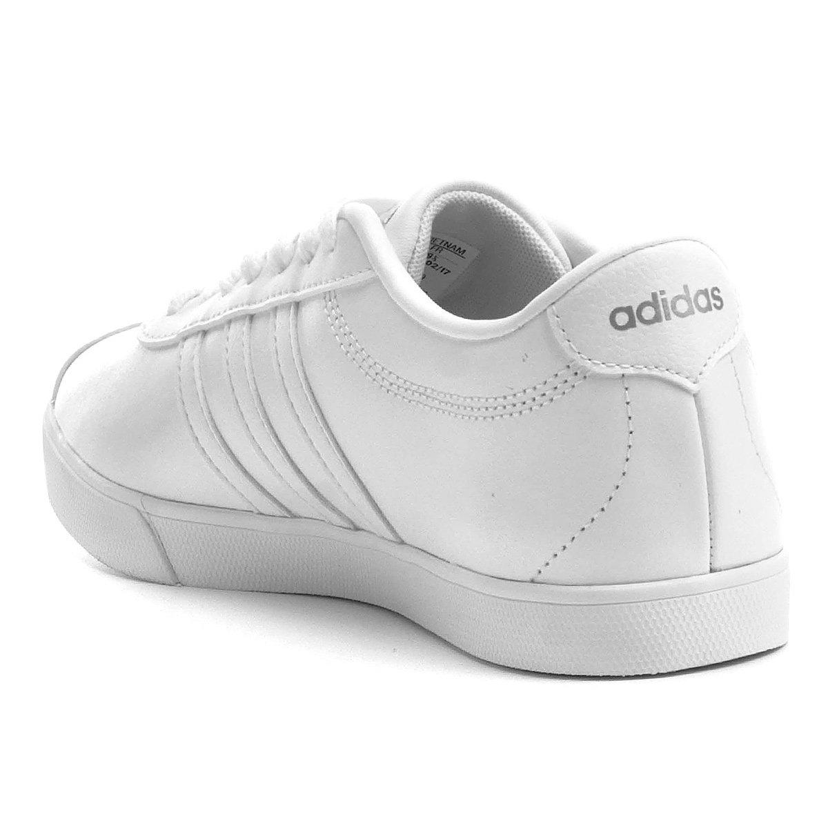 498aa21d24 Tênis Couro Adidas Courtset W Feminino