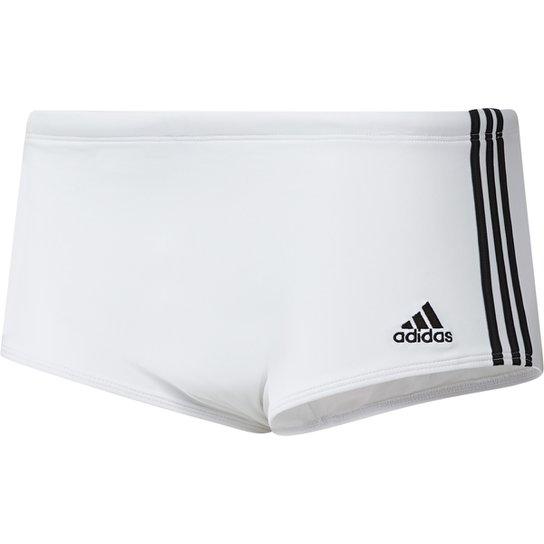 79b7f2207d8 Sunga Adidas 3S Wide - Branco - Compre Agora