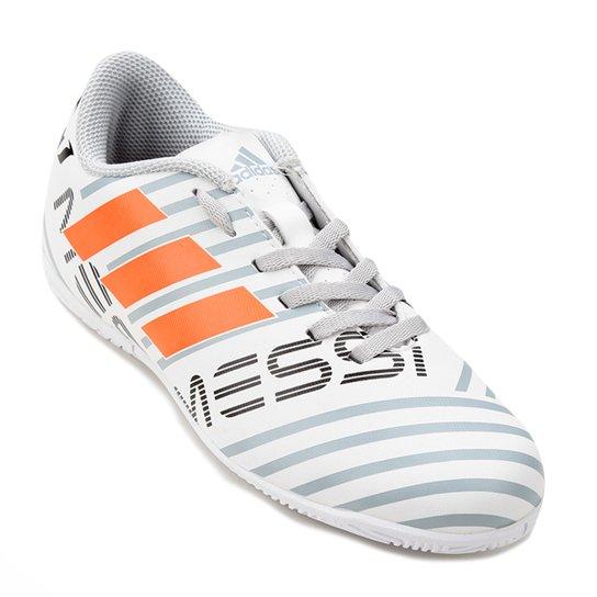 24afb7ff84 Chuteira Futsal Infantil Adidas Nemeziz Messi 17.4 In - Branco