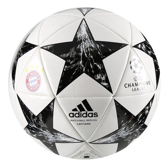 Bola Futebol Campo Bayern de Munique Adidas Finale 17 Capitano - Branco bcdb5c2a67c7c