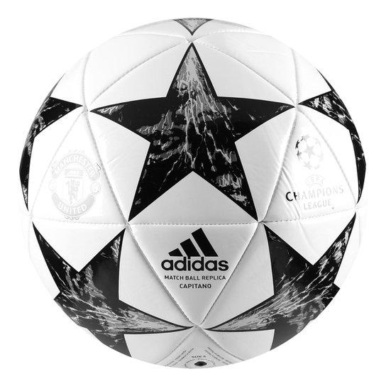 b4e066b45ff28 Bola Futebol Campo Manchester United Adidas Finale 17 Capitano -  Branco+Preto