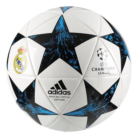 Bola Futebol Campo Real Madrid Adidas Finale 17 Capitano - Azul  Piscina+Preto 9e65c08726f5d