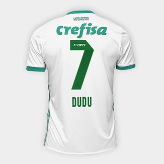 Camisa Palmeiras II 17 18 nº 7 Dudu Torcedor Adidas Masculina 185d5d6d004ff