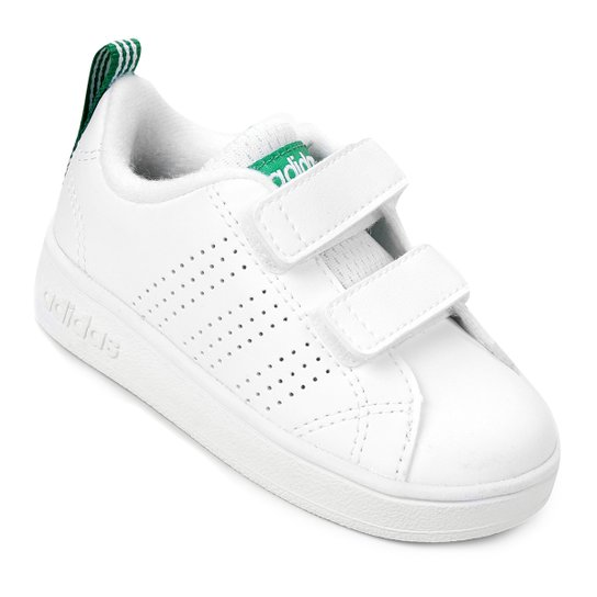 100% authentic a257d 12ede Tênis Infantil Adidas Vs Advantage Clean - Branco+Verde