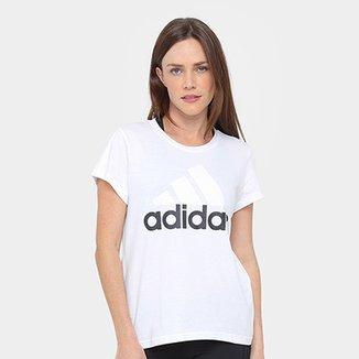 bfe9b4b154d Camiseta Adidas Essentials Linear Feminina