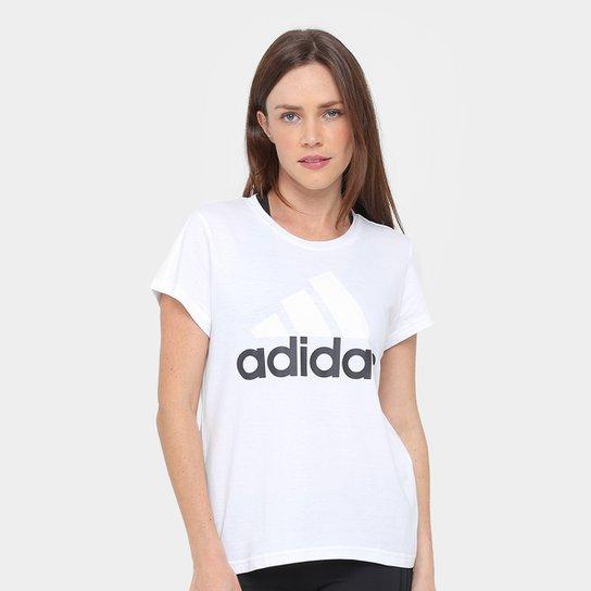 823b3f1763f3e Camiseta Adidas Essentials Linear Feminina - Branco - Compre Agora ...