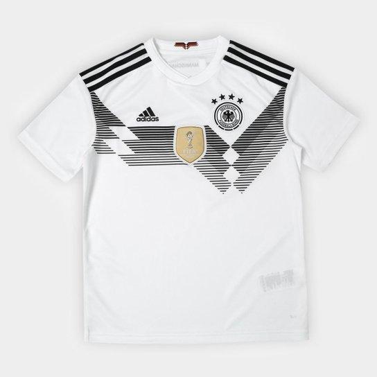 6f4cb54750 Camisa Infantil Seleção Alemanha Home 2018 s n° Adidas Torcedor - Branco