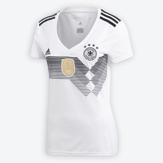 Camisa Seleção Alemanha Home 2018 s n° Torcedor Adidas Feminina - Branco f0fc4d9bebd