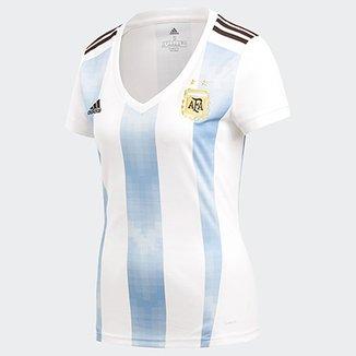 Camisa Seleção Argentina Home 2018 s n° Torcedor Adidas Feminina adbd62448987e
