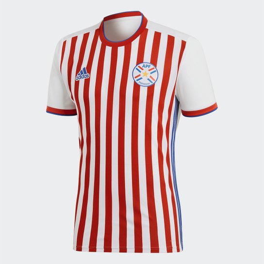 f883ba8c5a928 Camisa Seleção Paraguai Home 2018 s n°Torcedor Adidas Masculina -  Branco+Vermelho