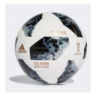 Bola Futebol Campo Adidas Telstar 18 Copa do Mundo TOP Replique FIFA 5505d1837cf92