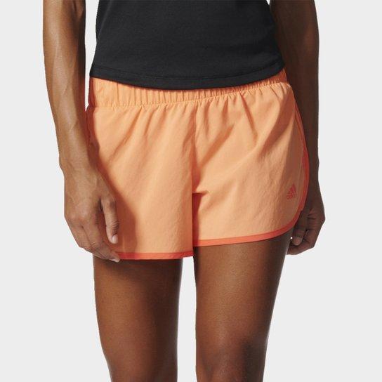 cfecb6877 Short Adidas M10 Feminino - Laranja Claro | Netshoes