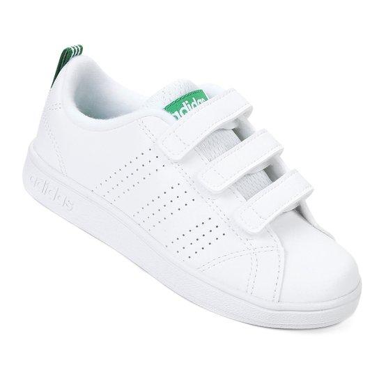 8c728754be Tênis Infantil Adidas Vs Advantage Clean C - Branco e Verde - Compre .