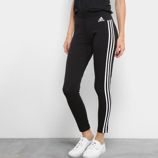 Calça Legging Adidas Essentials 3S Feminina - Compre Agora  f95579c4a2ffc