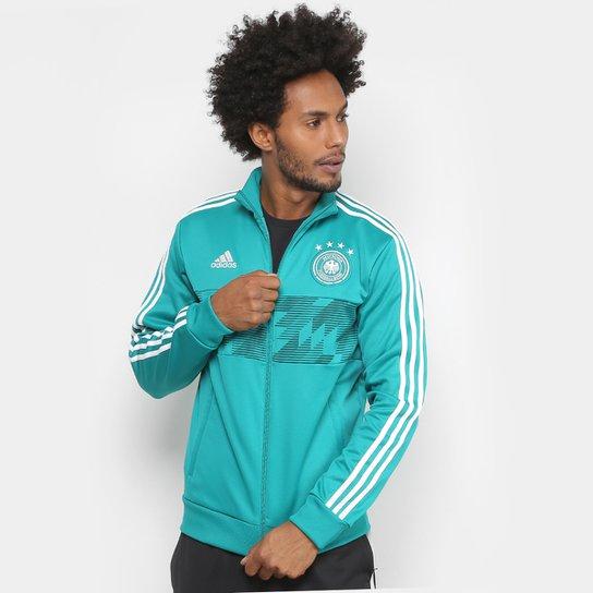 6bfb069501d6b Jaqueta Seleção Alemanha Adidas 3S Masculina - Verde - Compre Agora ...