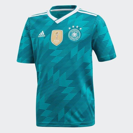 Camisa Seleção Alemanha Infantil Away 18 19 s n° Torcedor Adidas - Verde 97138fc776d3d