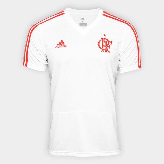Camisa Flamengo Treino Adidas Masculina - Branco - Compre Agora ... a1ec6523d4036