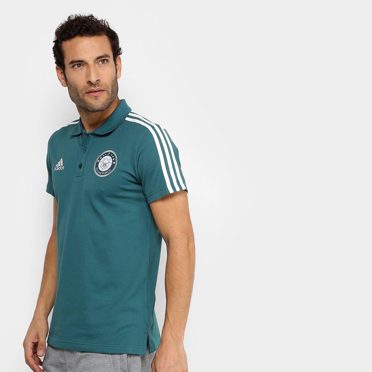 Camisa Polo Palmeiras 3S Adidas Masculina 72aab79206daa