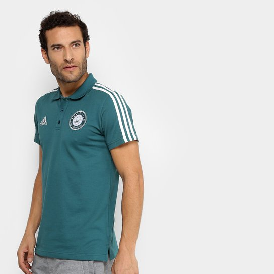 Camisa Polo Palmeiras 3S Adidas Masculina - Verde - Compre Agora ... 7afce1e770e94