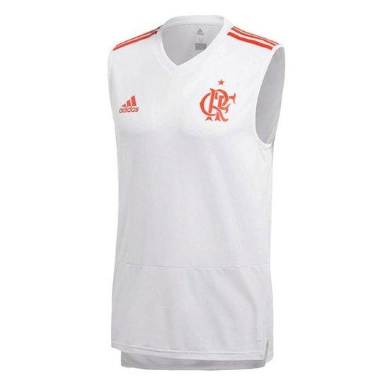 b185859824 Regata Flamengo Treino Adidas Masculina - Branco - Compre Agora ...