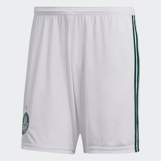 Calção Palmeiras I 2018 Adidas Masculino - Branco e Verde - Compre ... 8232981e5f2e7