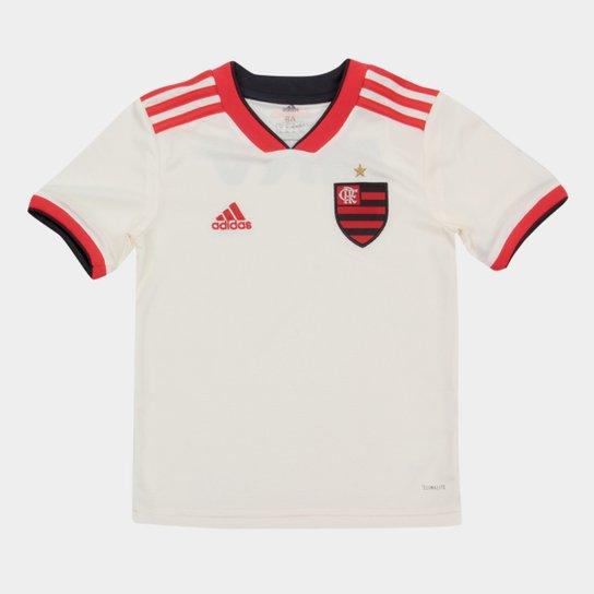 5acabcd145 Camisa Flamengo Infantil II 2018 s n° Torcedor Adidas - Branco ...