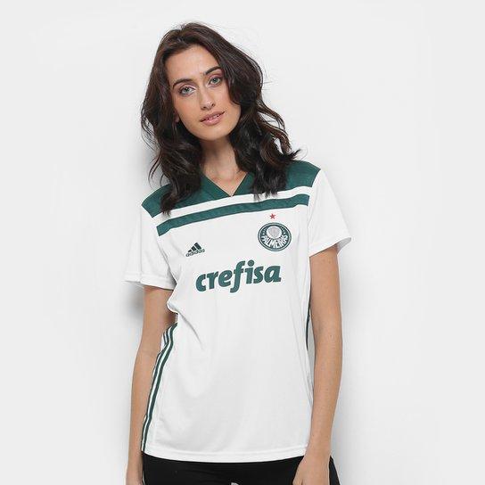 1f5ea700e573e Camisa Palmeiras II 2018 s n° Torcedor Adidas Feminina - Branco e ...
