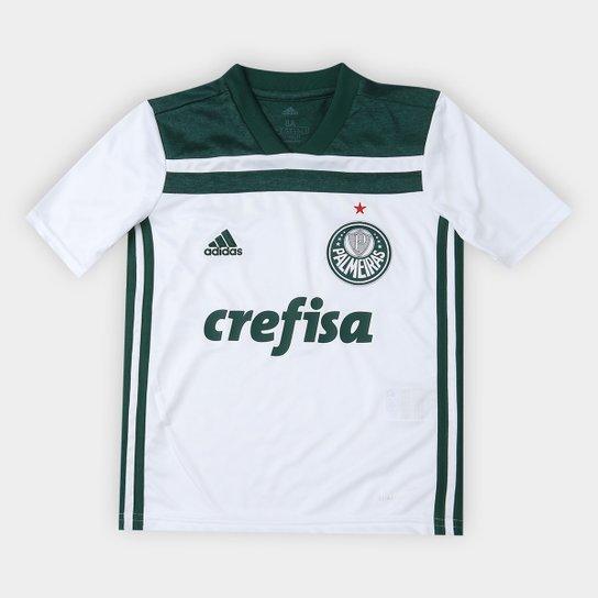 af051e305 Camisa Palmeiras Infantil II 2018 s/n° Torcedor Adidas - Branco+Verde