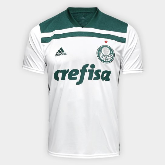34a17a8b9 Camisa Palmeiras II 2018 s/n° Torcedor Adidas Masculina - Branco+Verde