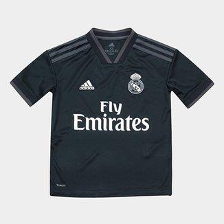 Camisa Real Madrid Infantil Away 2018 s n° Torcedor Adidas 25a290093694c