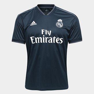 4f3e89c23d383 Camisa Real Madrid Away 2018 s n° Torcedor Adidas Masculina