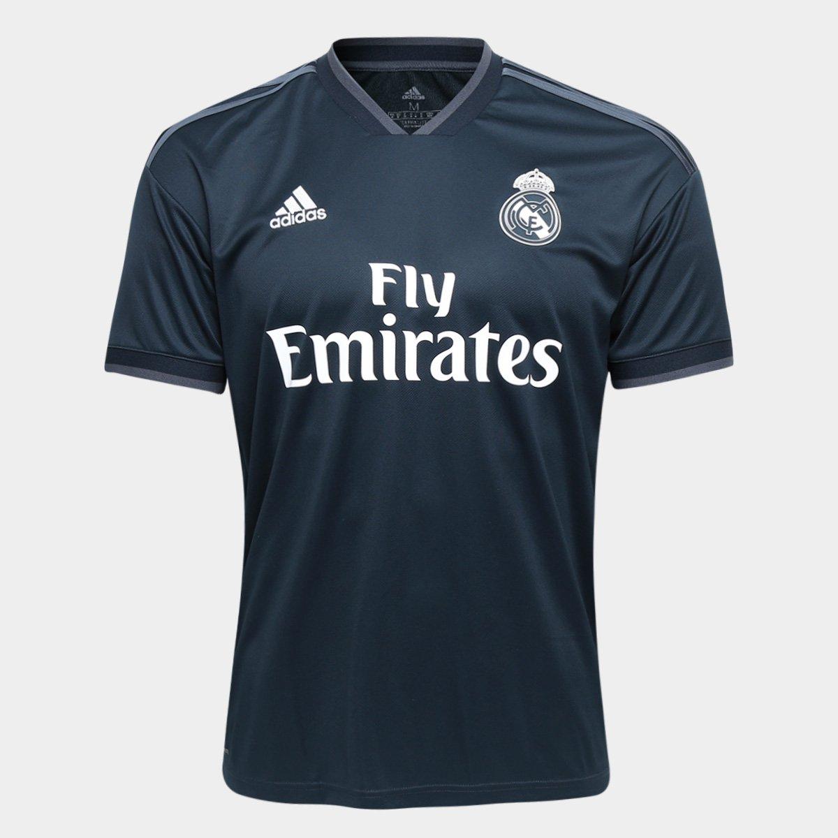 45d0ea545f Camisa Real Madrid Away 2018 s n° Torcedor Adidas Masculina