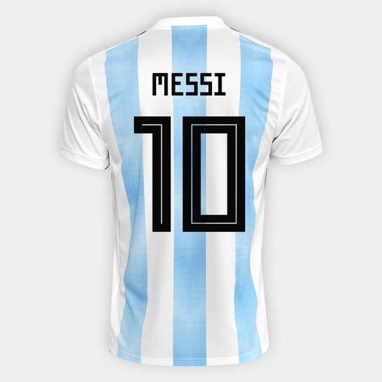 Camisa Seleção Argentina Home 2018 n° 10 Messi - Torcedor Adidas Masculina  - Branco+ f375f5b2d0c5a