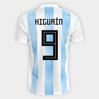 Camisa Seleção Argentina Home 2018 n° 9 Higuaín - Torcedor Adidas Masculina 9546225b5e9c9