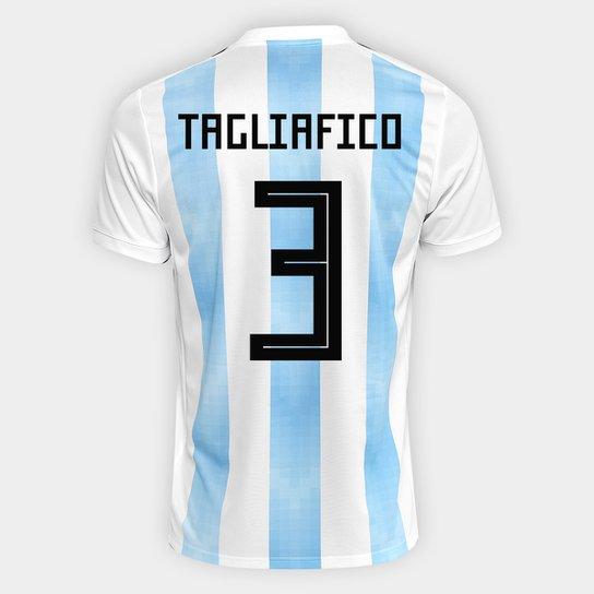 3a04f163de Camisa Seleção Argentina Home 2018 n° 3 Tagliafico - Torcedor Adidas  Masculina - Branco+