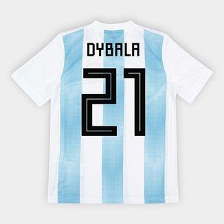 647939267da2e Camisa Seleção Argentina Infantil Home 2018 n° 21 Dybala - Torcedor Adidas