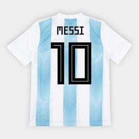 Camisa Seleção Argentina Infantil Home 2018 n° 10 Messi - Torcedor Adi. 61ee008576aaa