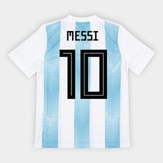 Camisa Seleção Argentina Infantil Home 2018 n° 10 Messi - Torcedor Adidas bc3e9e623cd1b