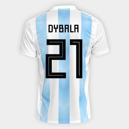 Camisa Seleção Argentina Home 2018 n° 21 Dybala - Torcedor Adidas Masculina  - Branco+ d1c702a4f213e