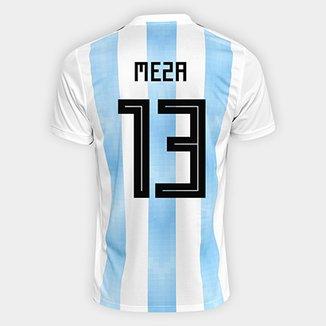 ce8e8e38ddbf4 Camisa Seleção Argentina Home 2018 n° 13 Meza - Torcedor Adidas Masculina