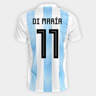 Camisa Seleção Argentina Home 2018 n° 11 Di María - Torcedor Adidas  Masculina 2011eb5e07d7c